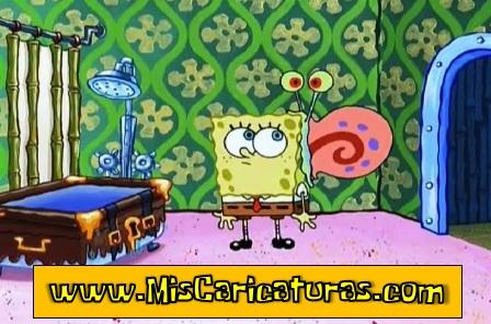 bob esponja gary toma un baño