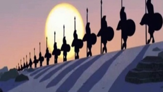 samurai jack espartanos