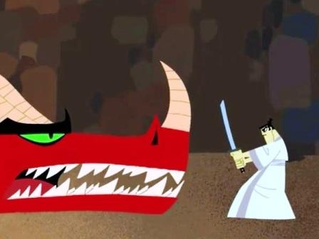 samurai jack dragon flatulento