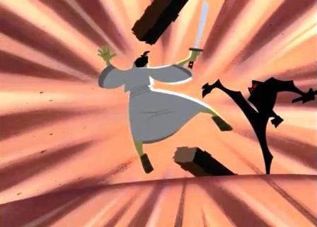 samurai jack contra ninja