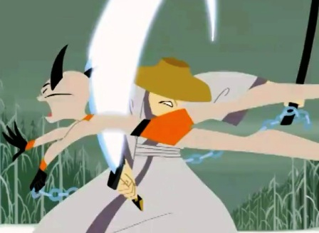 samurai jack contra los cazadores mercenarios